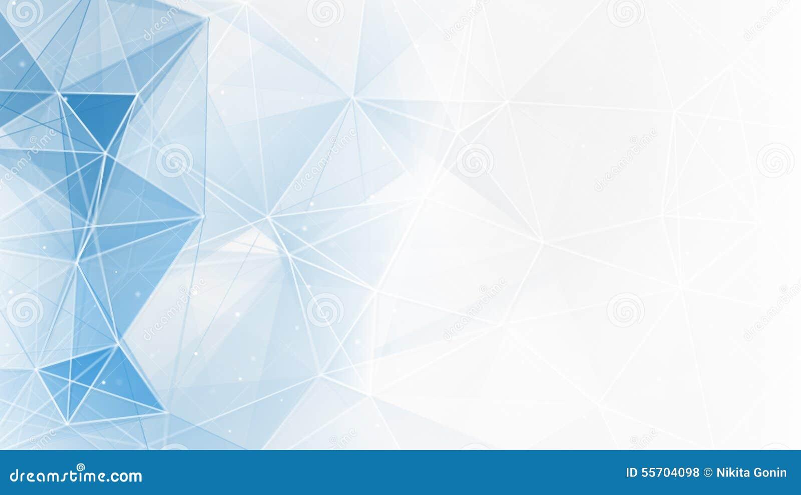 抽象蓝色白色几何网背景