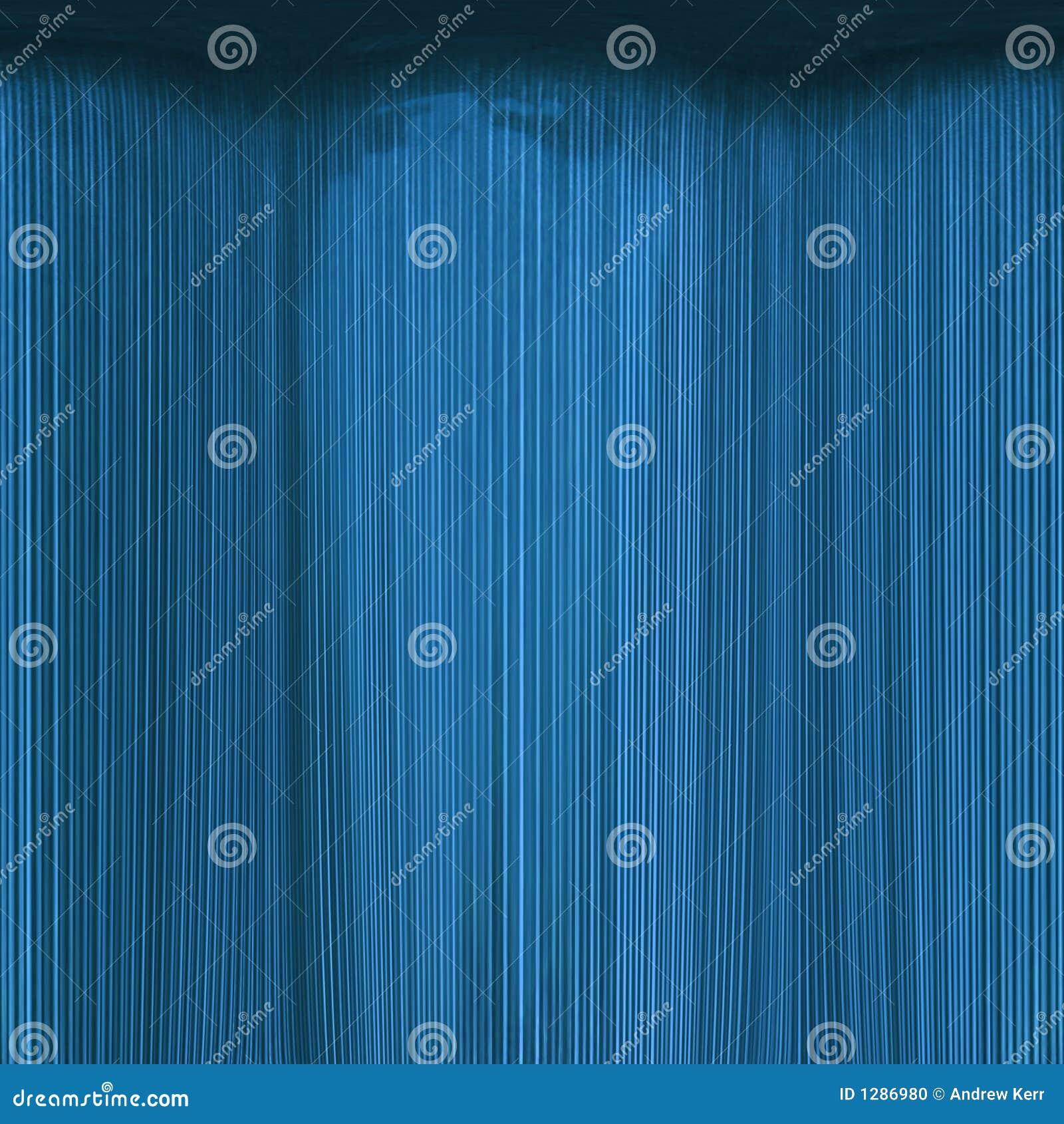 抽象蓝色窗帘海运剧院