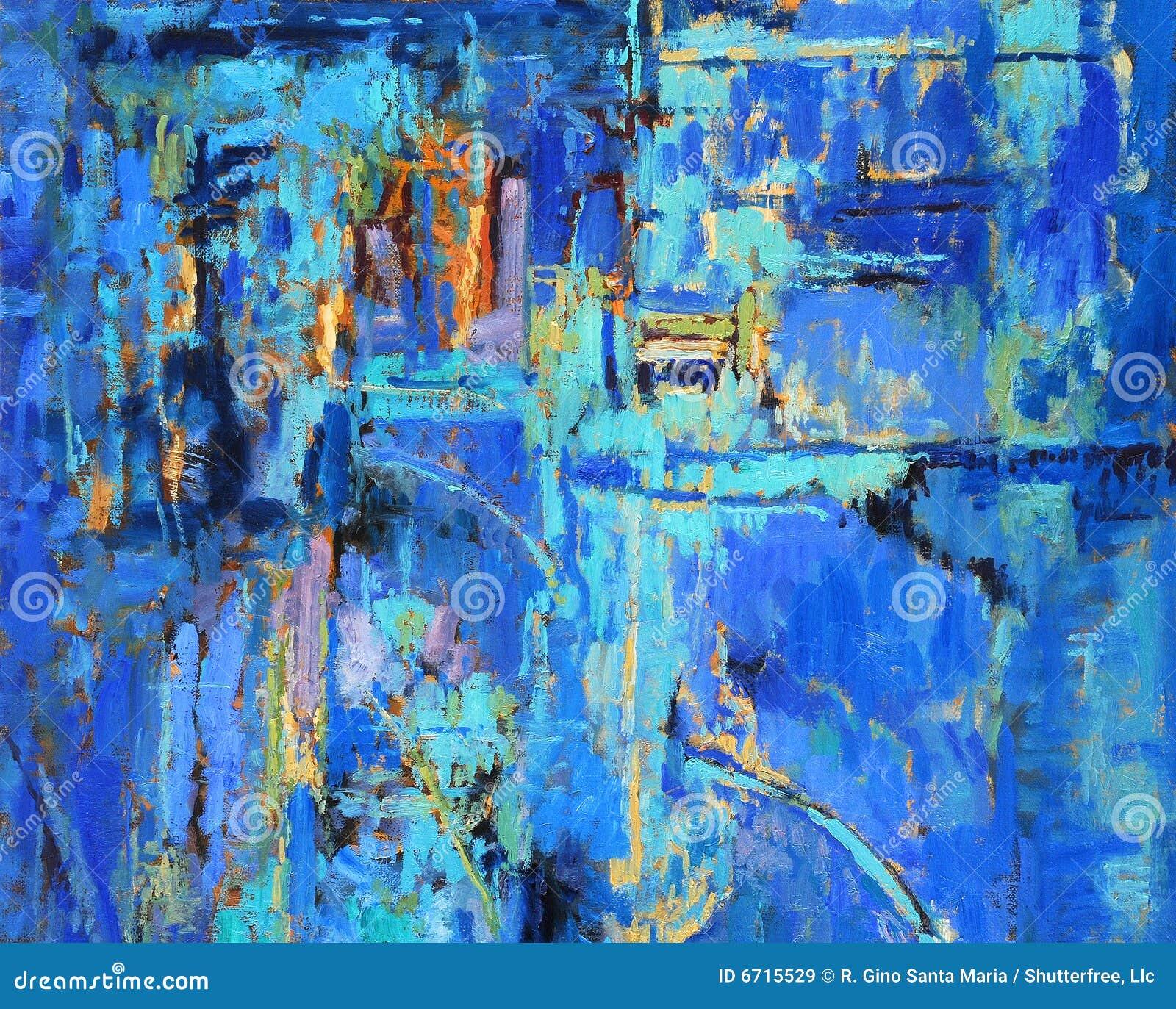 抽象蓝色绘