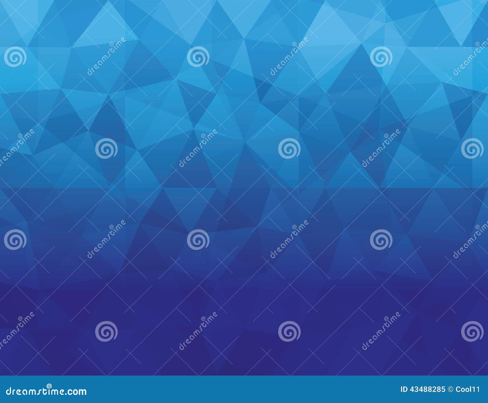 抽象蓝色颜色多角形几何背景