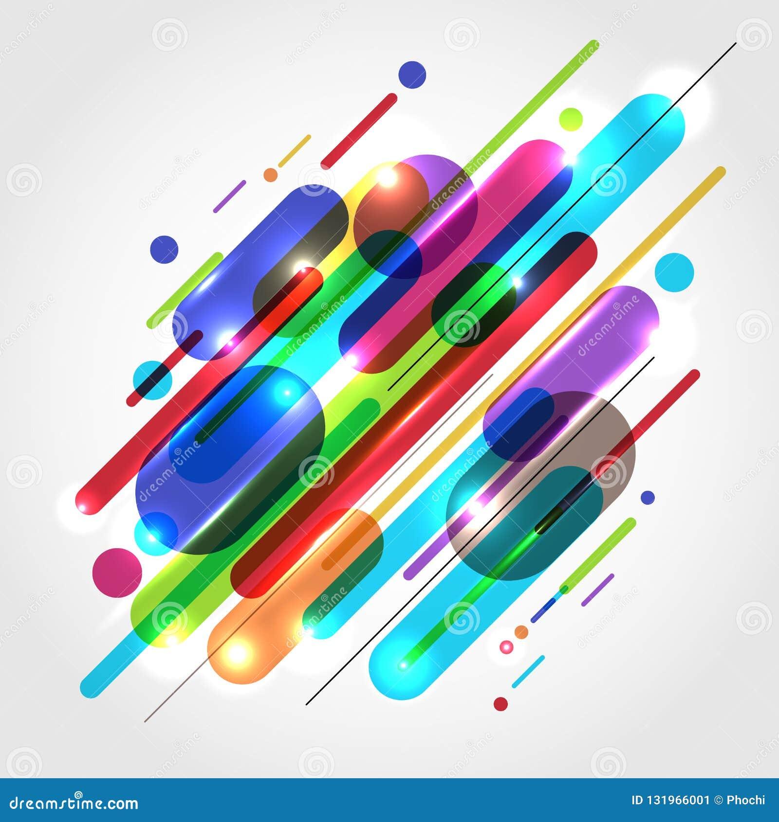 抽象行动动力学构成做了各种各样的色的roun