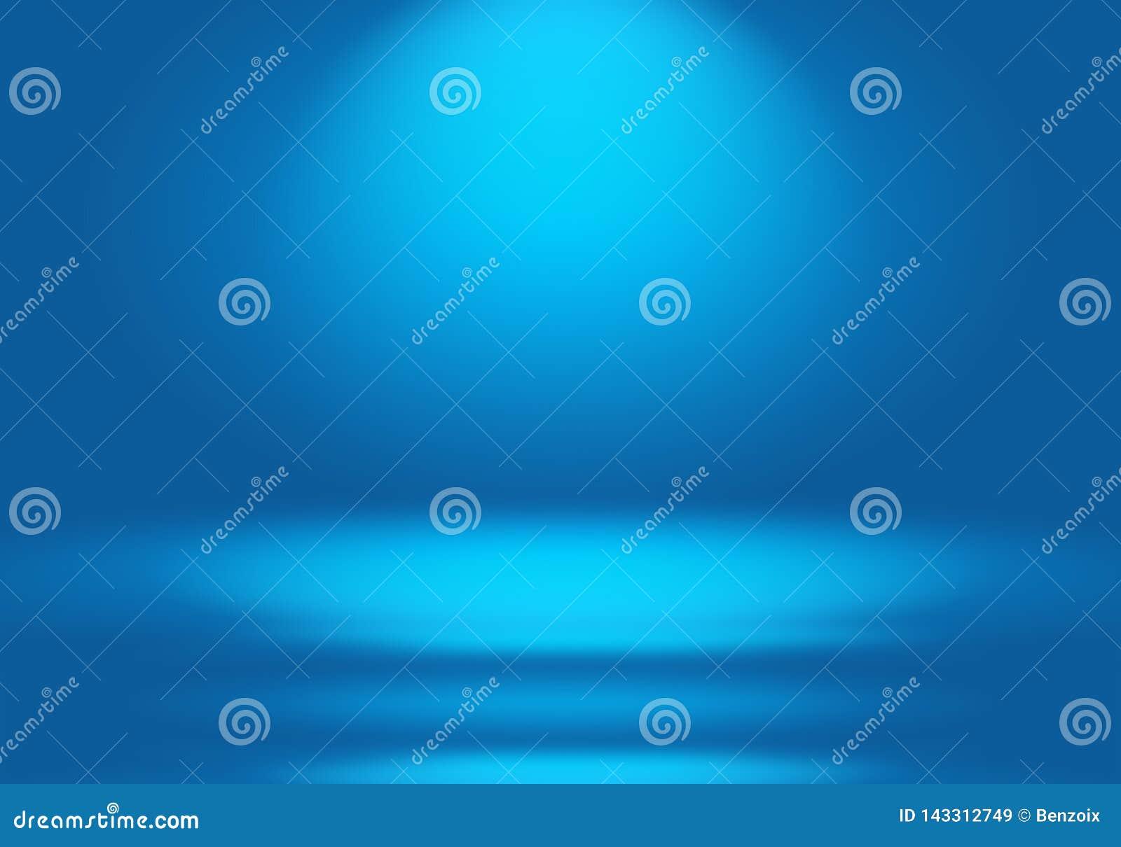抽象豪华梯度蓝色背景 使深蓝光滑与黑小插图演播室横幅