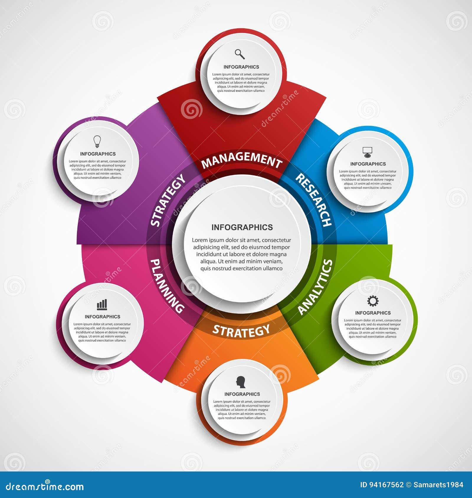 抽象选择infographics模板 企业介绍或信息横幅的Infographics