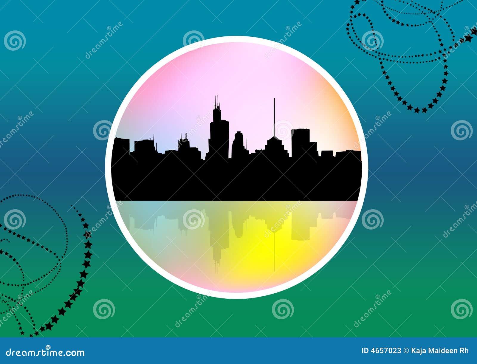 抽象都市风景大奖章