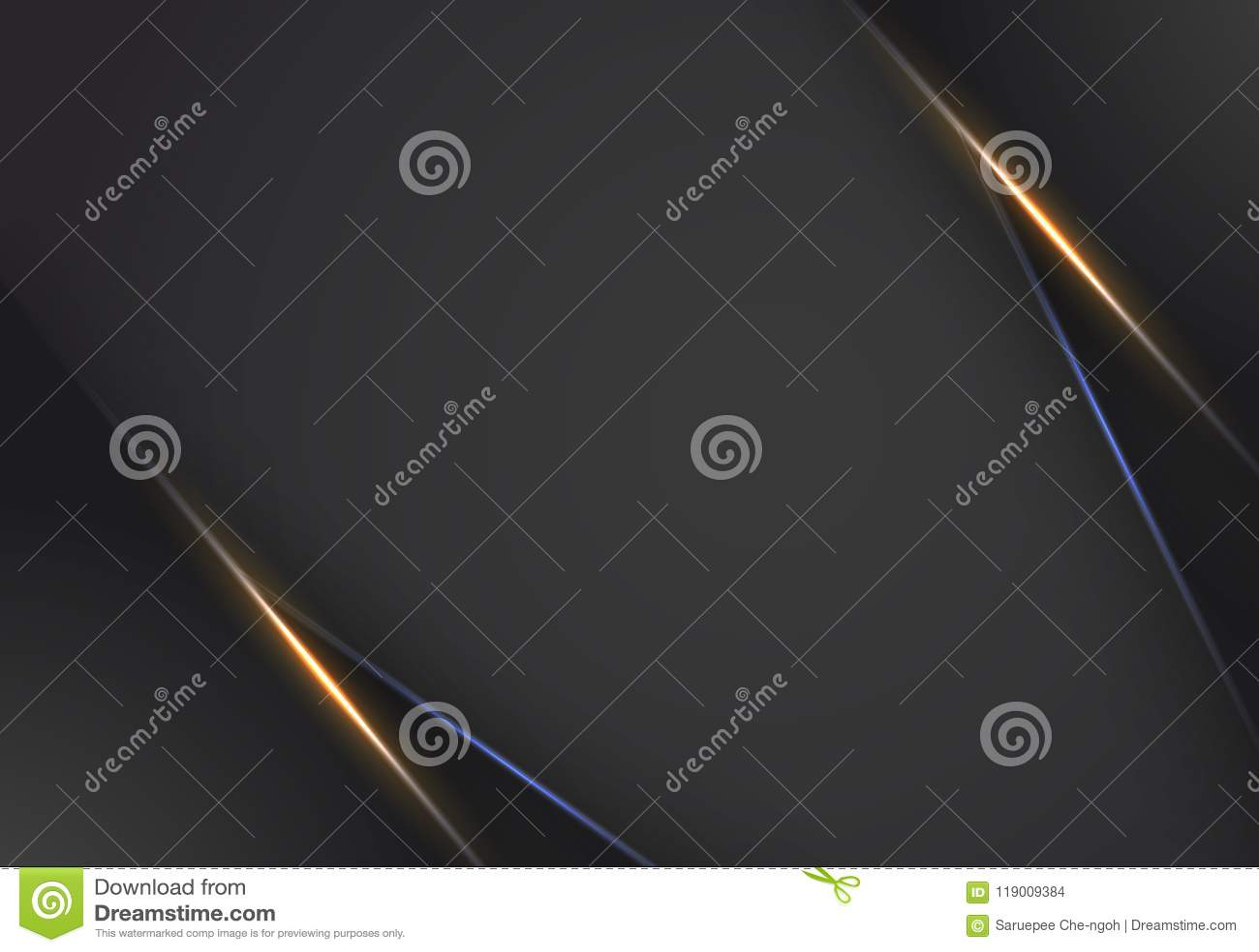 抽象金属橙色黑框架布局现代技术设计模板背景,橙色和蓝色轻的霓虹背景
