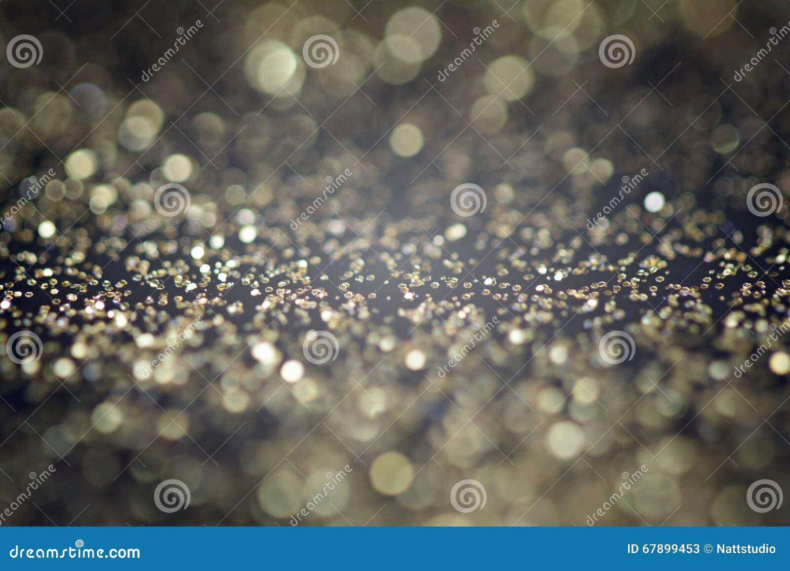 抽象金黄闪烁背景 庆祝和圣诞节背景
