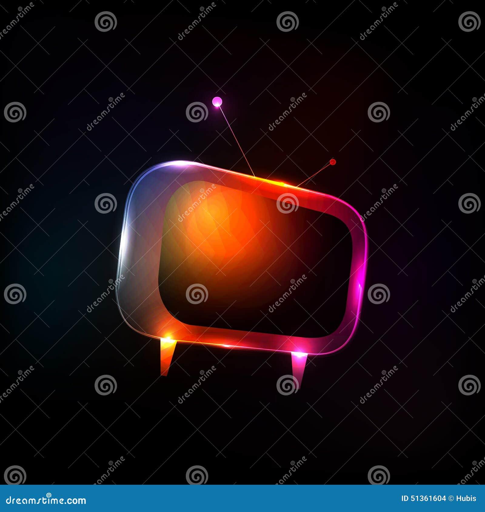 抽象霓虹灯电视