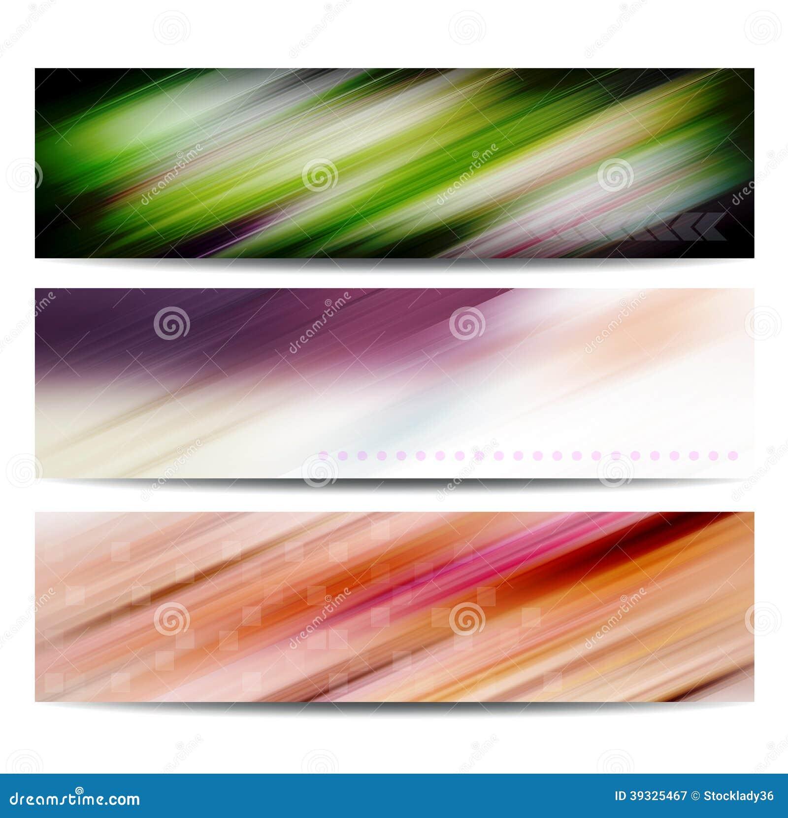 抽象颜色横幅集合