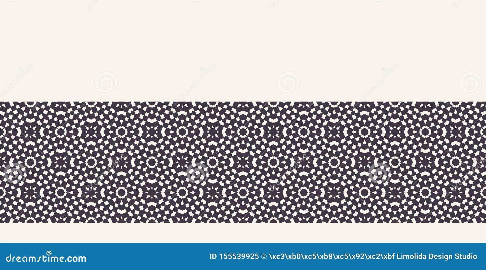 抽象马赛克棋盘边界背景 单色手拉的纹理例证 现代经典检查 ??