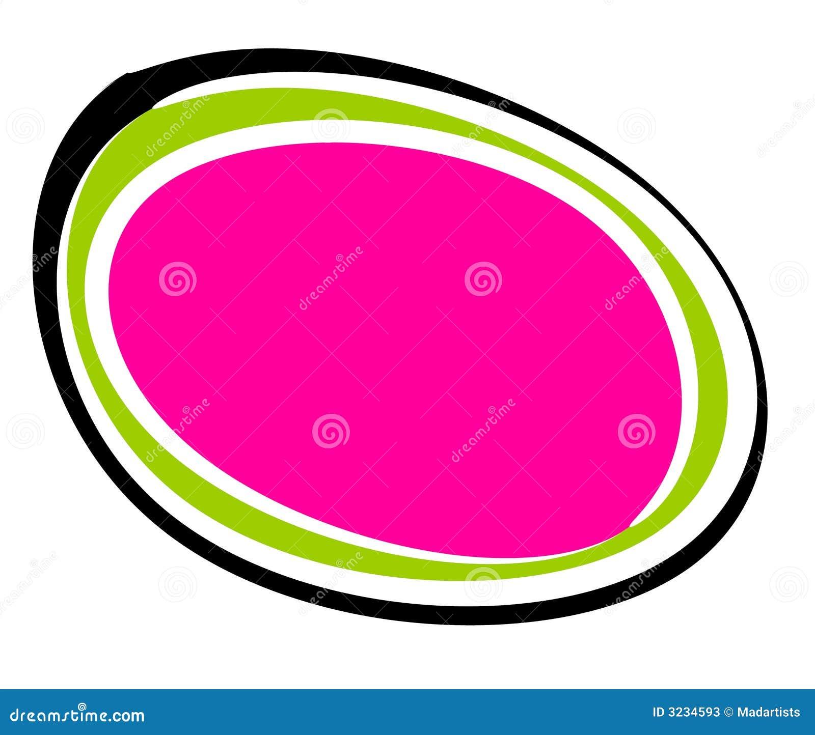 抽象黑色徽标卵形粉红色