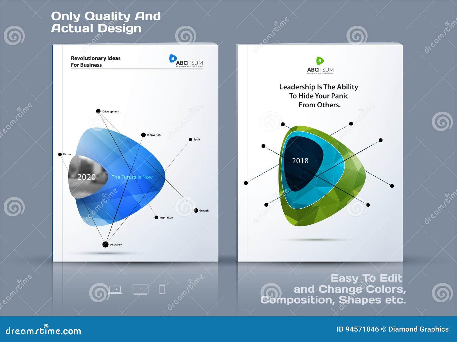抽象年终报告,企业传染媒介模板 小册子设计,盖子