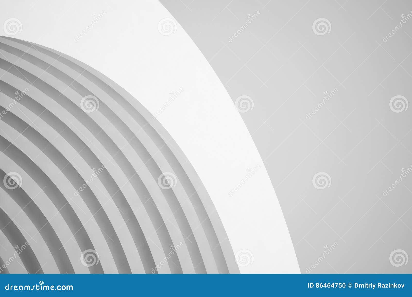 抽象结构背景 空的白色未来派室 3d例证回报