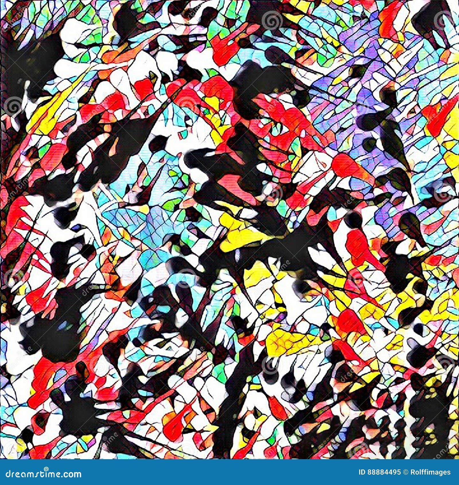 抽象画笔对跟踪的被绘的实际冲程纹理是