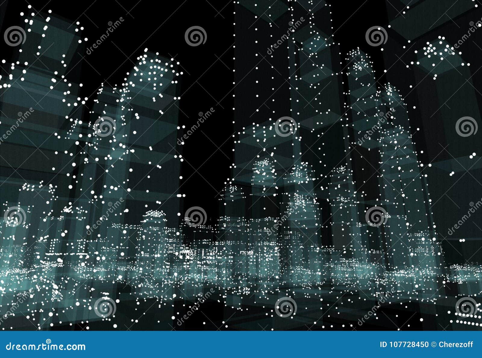 抽象3d城市翻译