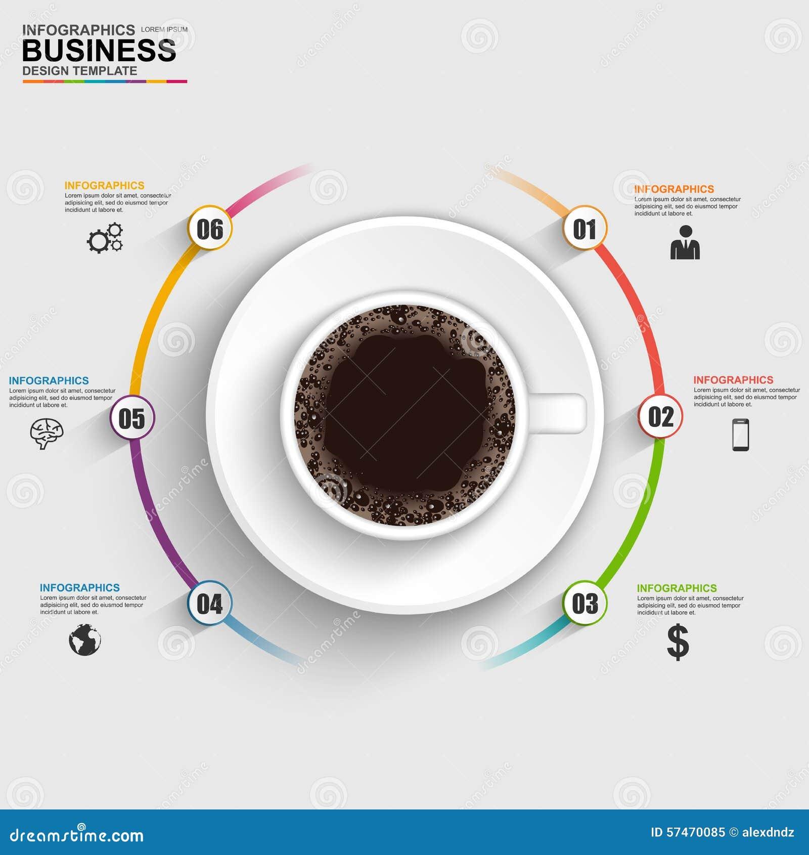 抽象3D数字式企业时间安排Infographic