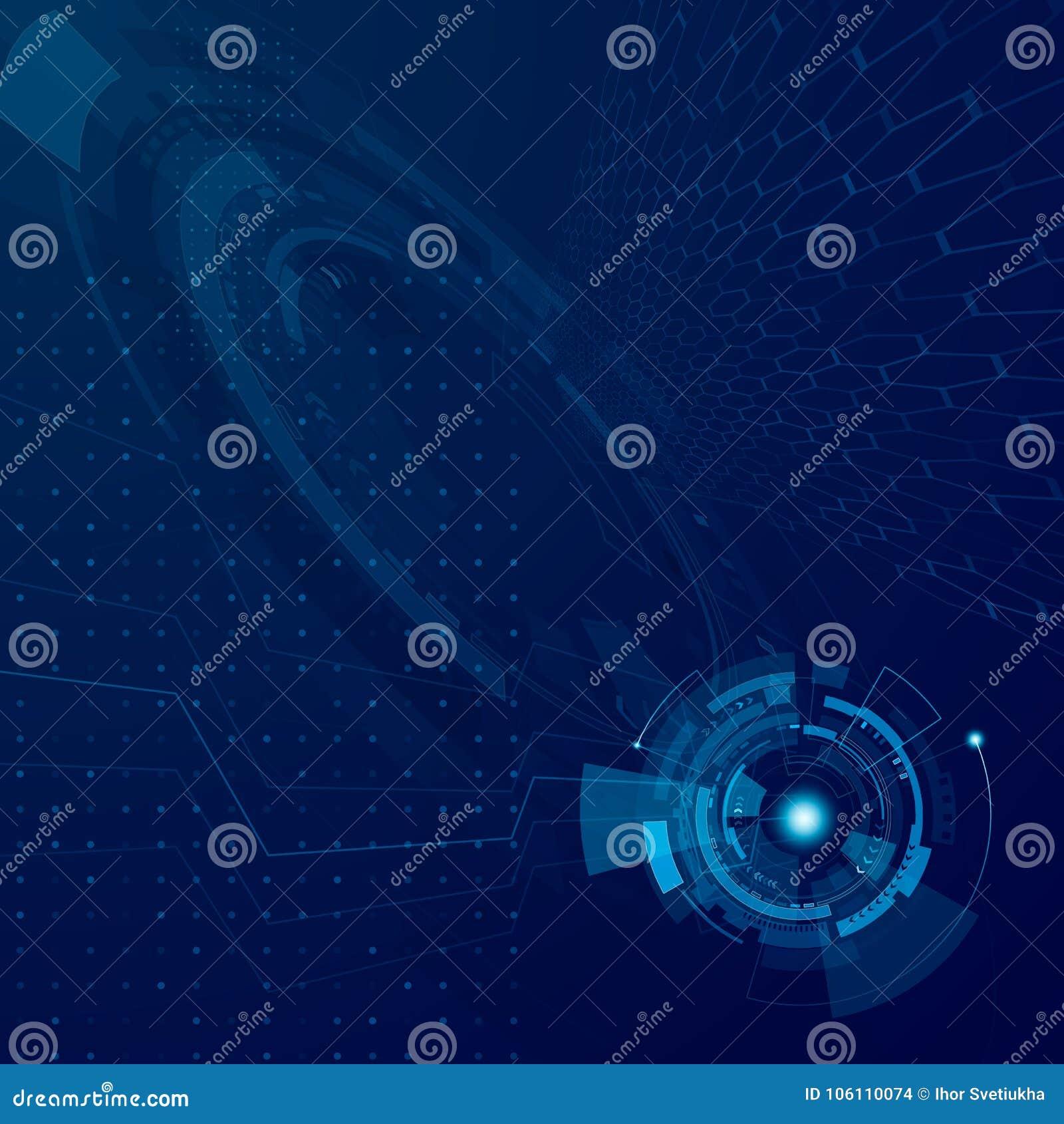 抽象hud未来技术设计 未来派网际空间技术发展概念 科学幻想小说接口系统 向量Illustratio