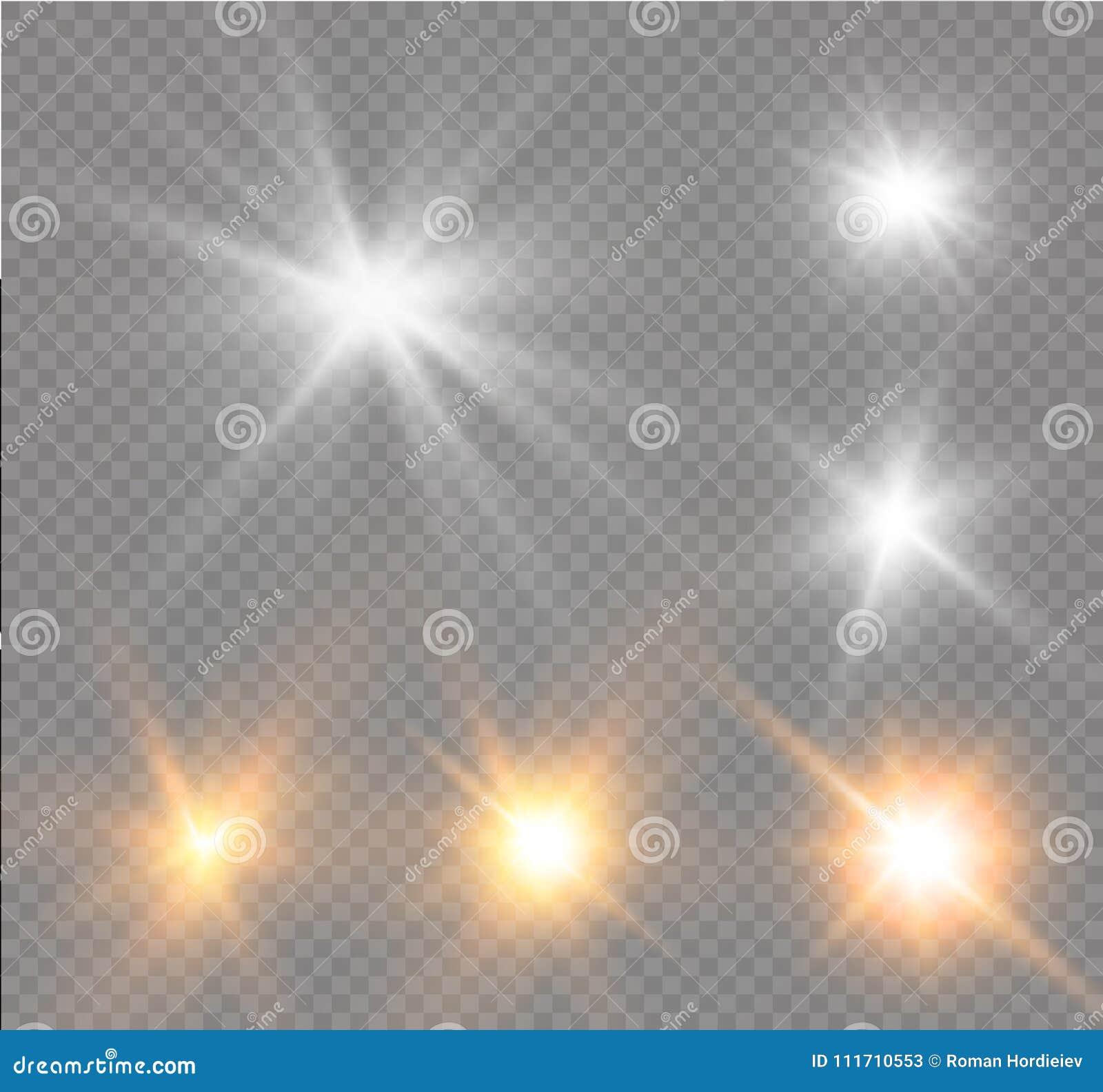 担任主角在透明背景,光线影响,传染媒介例证 与闪闪发光的爆炸