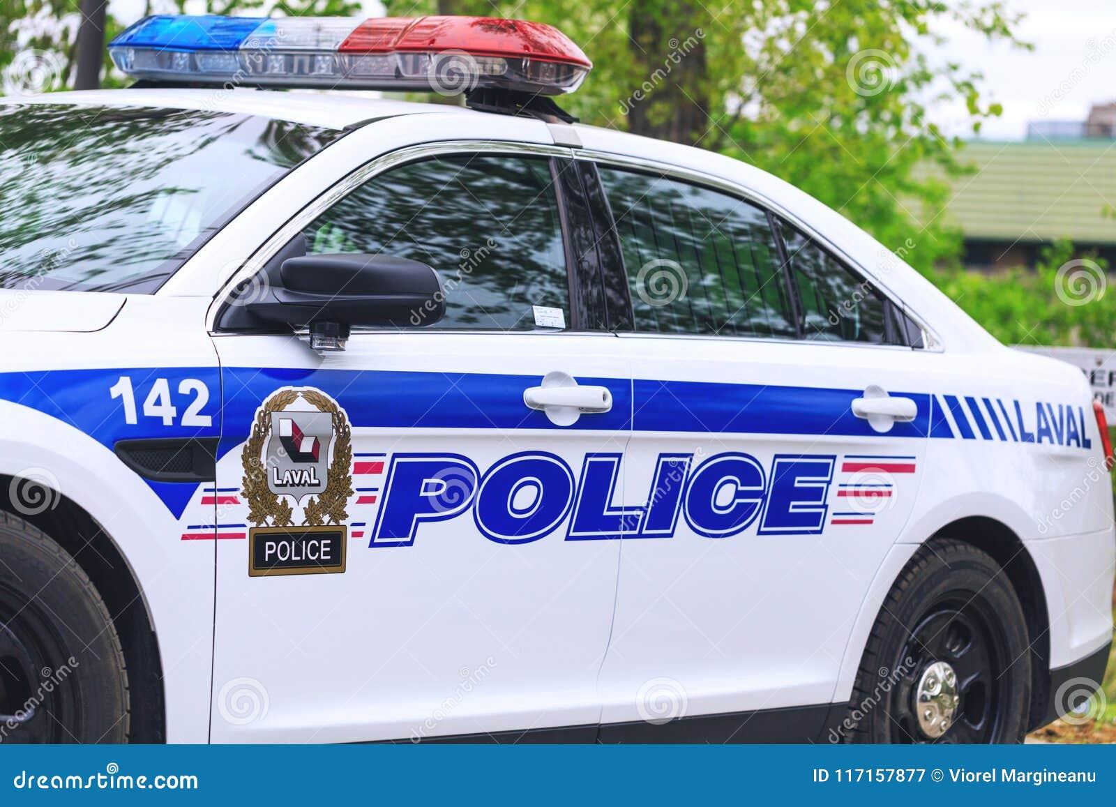 拉瓦尔,加拿大:2018年5月19日 加拿大警察美丽的汽车是