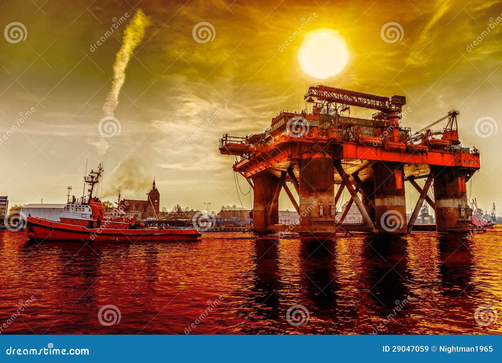拖曳抽油装置