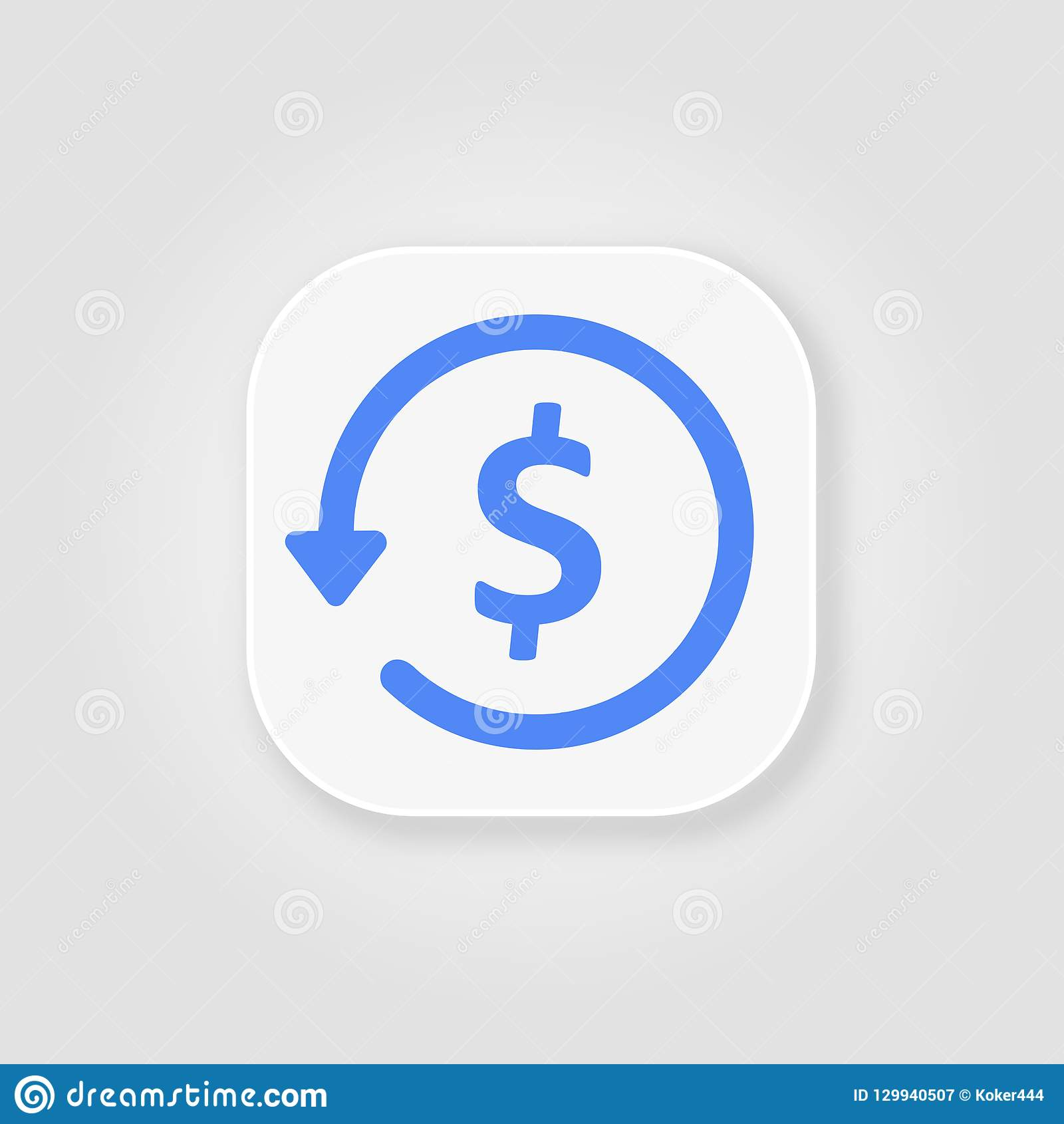 拖欠款项纵的沟纹蓝色象、电子商务和营销