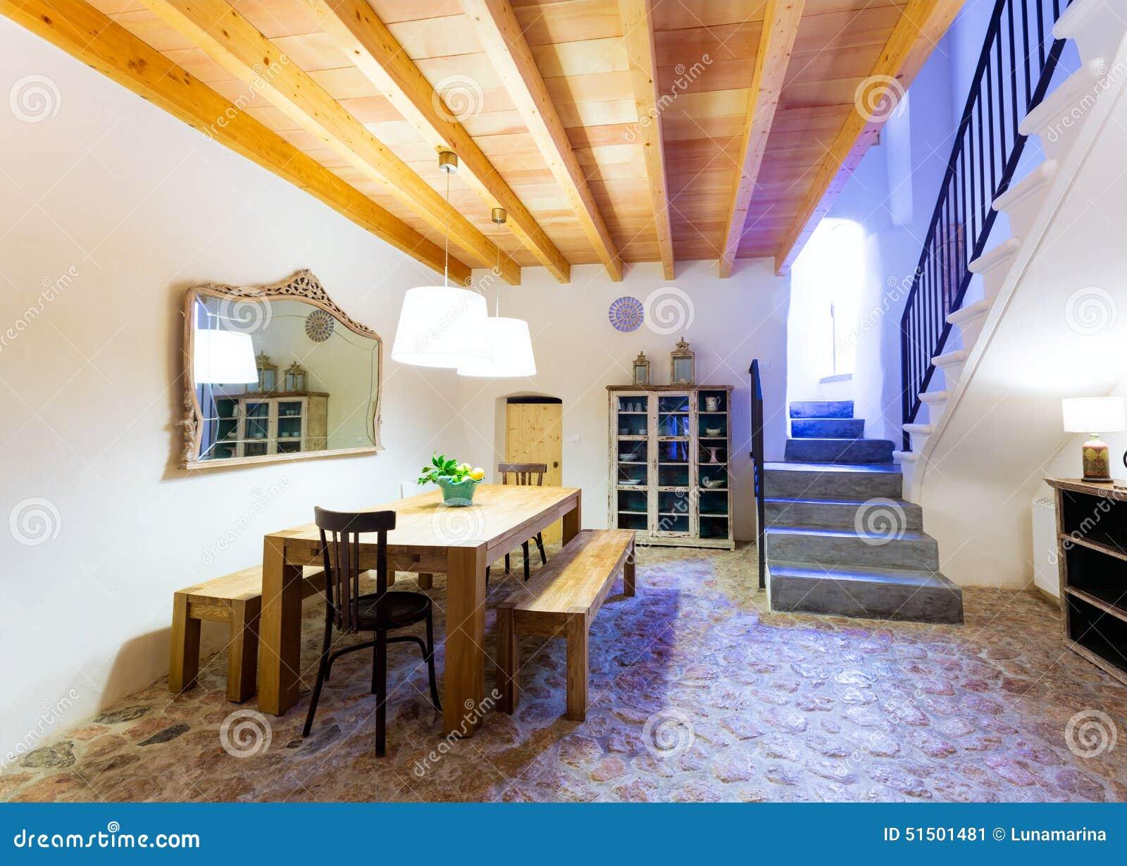 拜雷阿尔斯地中海样式的马略卡拜雷阿尔斯室内房子