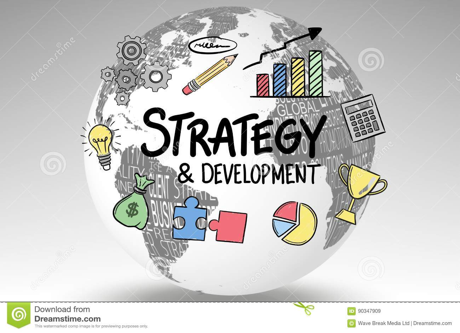 围拢战略和发展的象在地球发短信