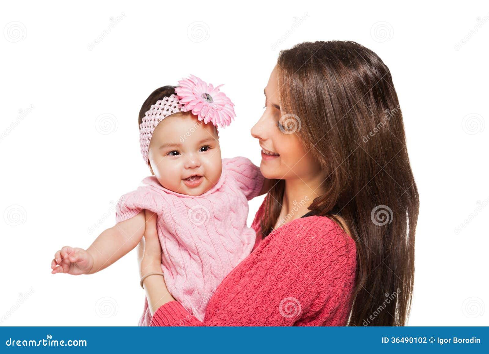 拥抱的母亲和的婴孩亲吻和。