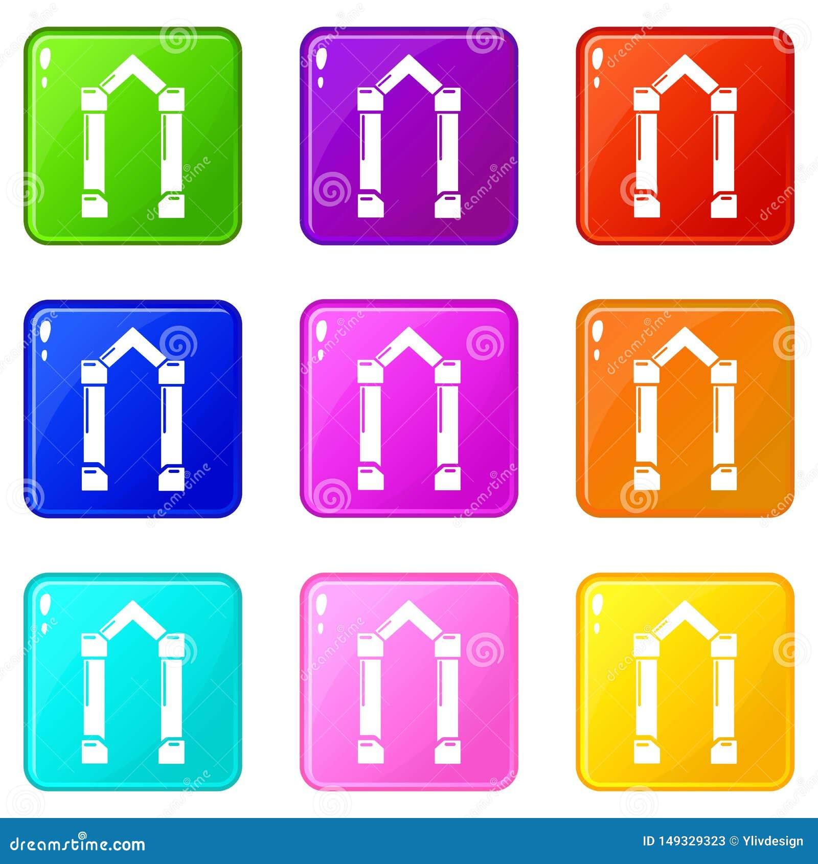 拱道元素象设置了9种颜色汇集