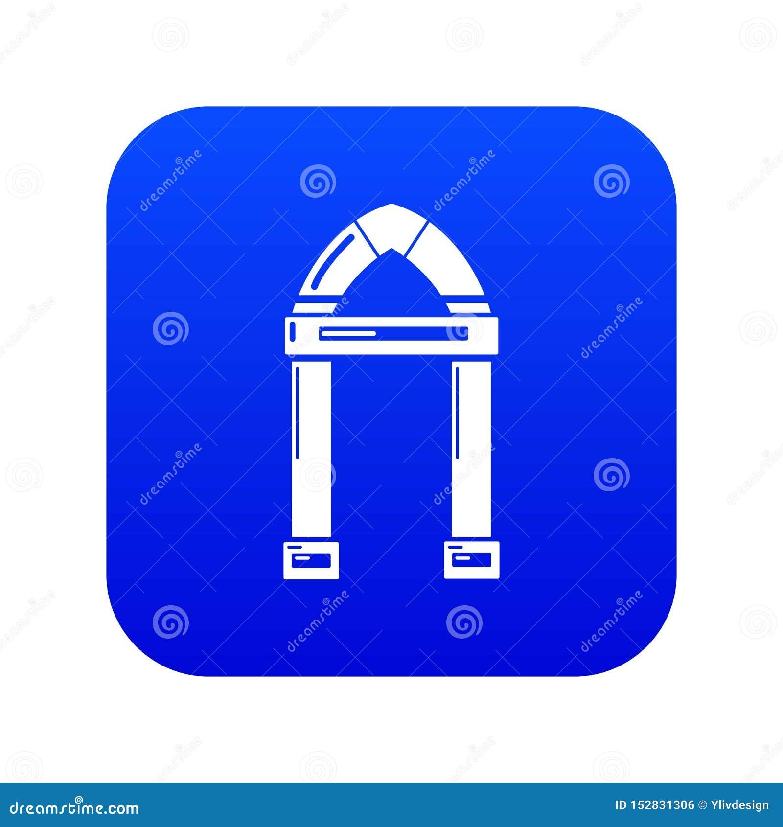 拱道装饰象蓝色传染媒介