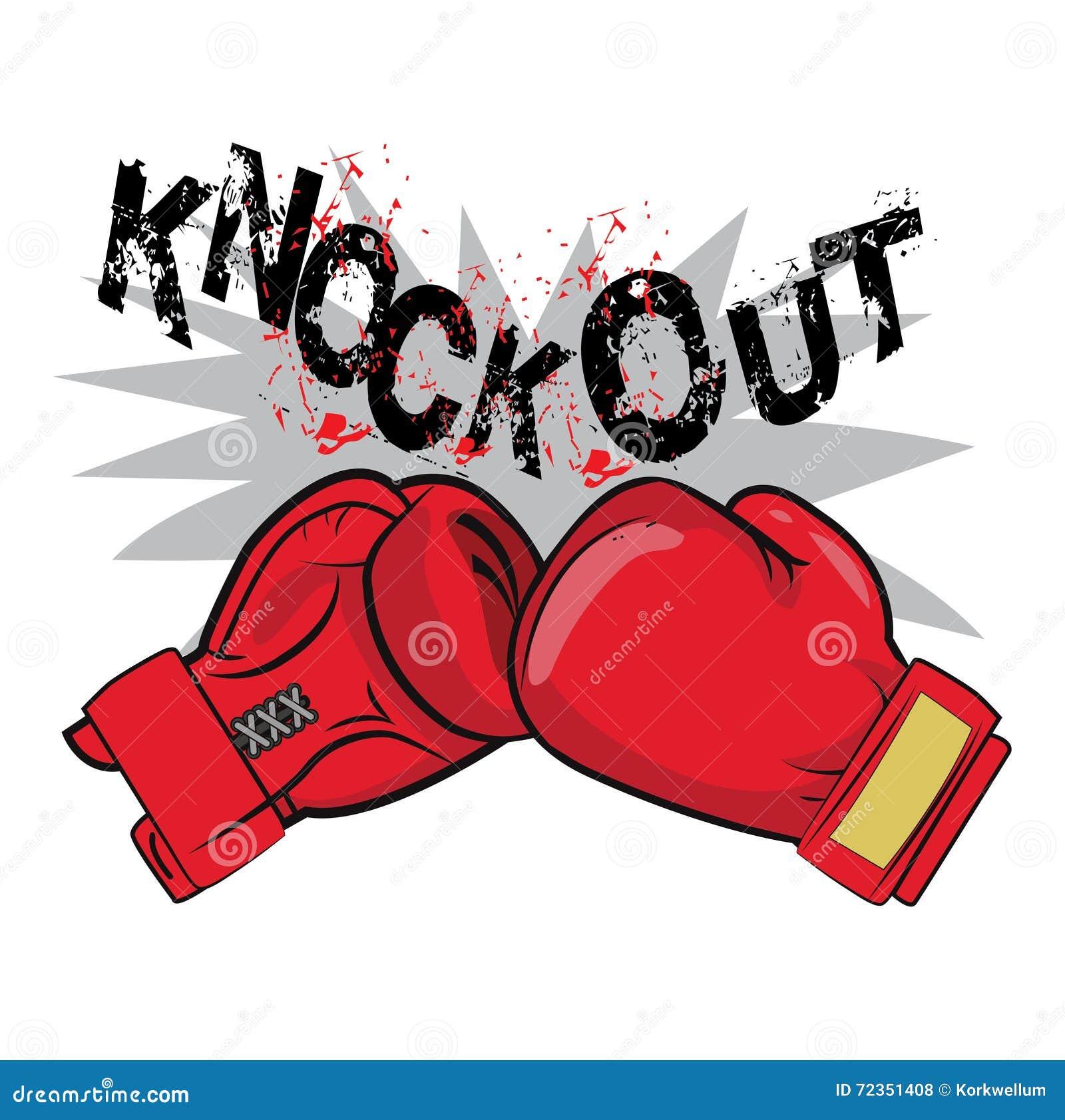 拳击手套和文本敲 拳击象征标签徽章t恤杉设计拳击战斗题材 人的拳击