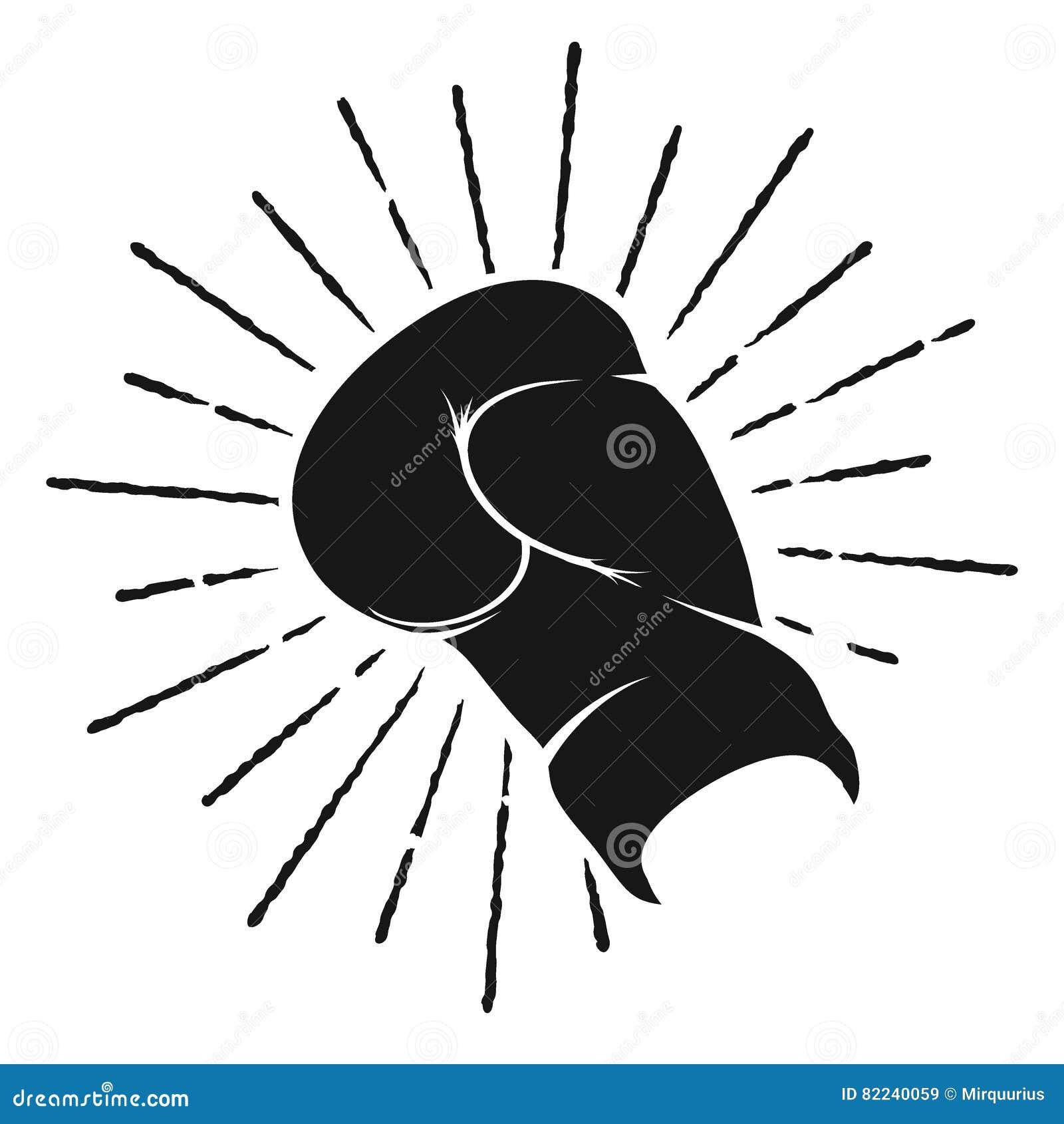 拳击手套的标志