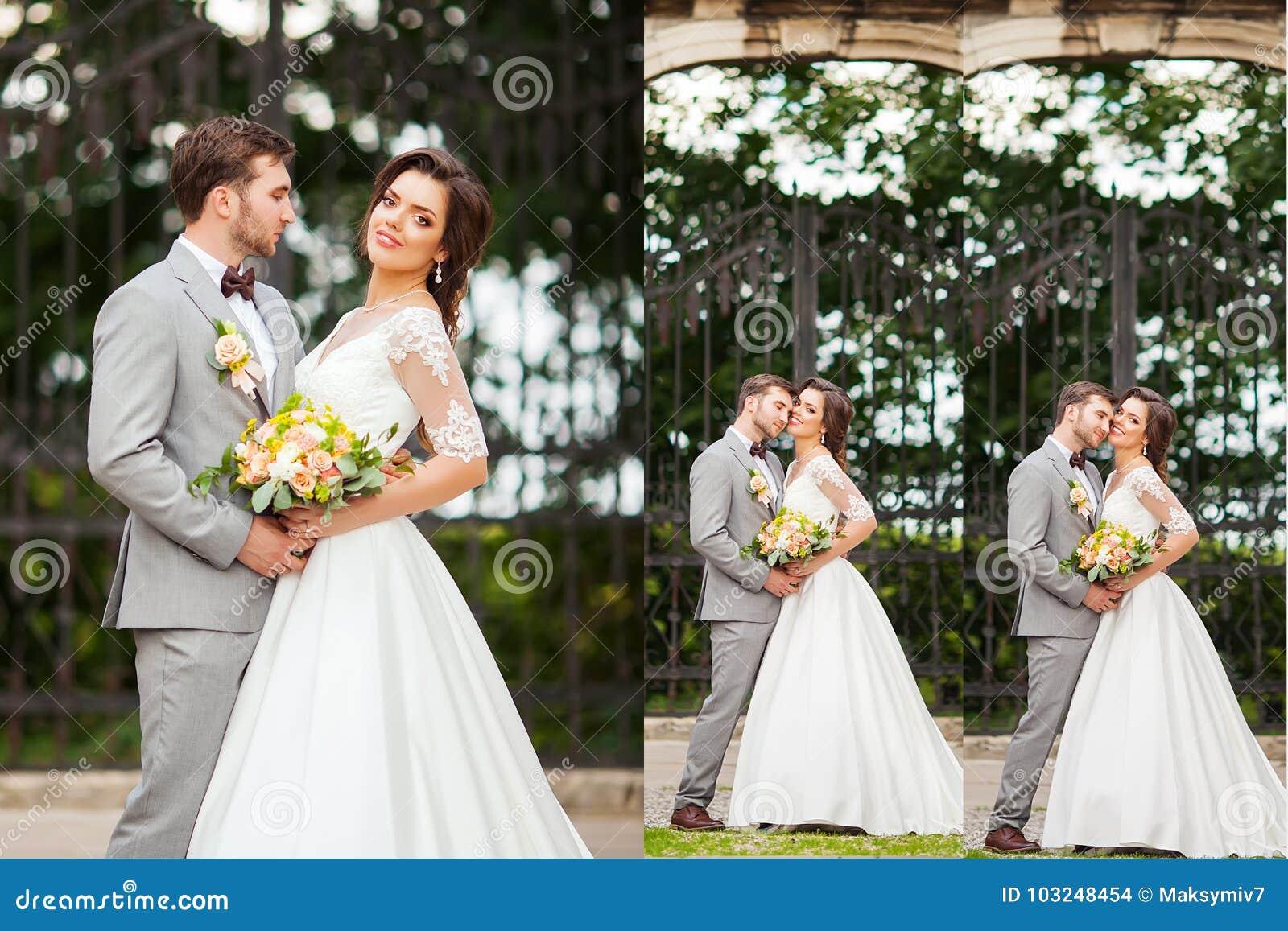 拼贴画九一个照片被设置的婚礼 新娘仪式教会新郎婚礼