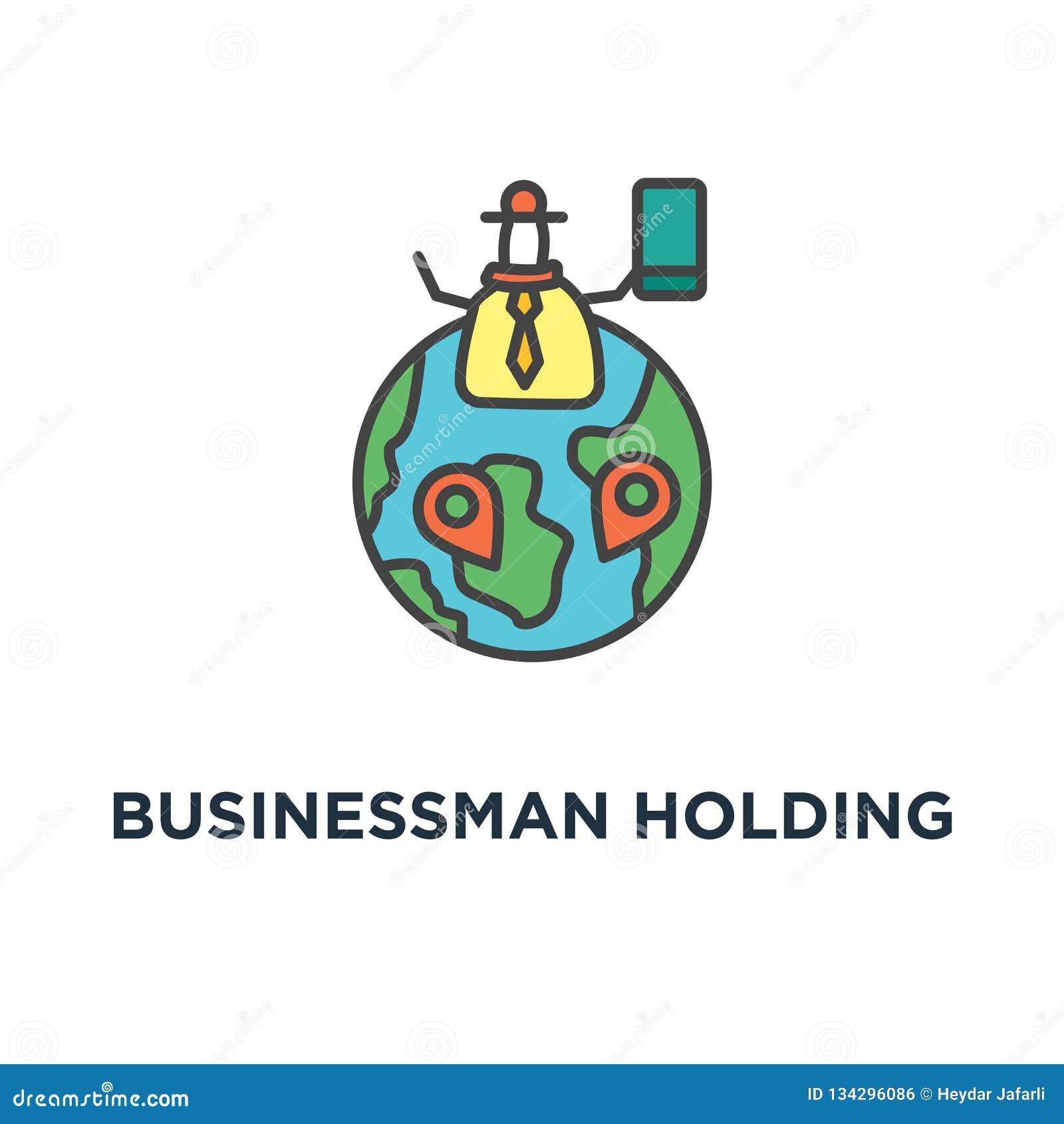 拿着与成功象的校验标志、成就的事务,标志和挑战,概述,概念的商人绿色旗子