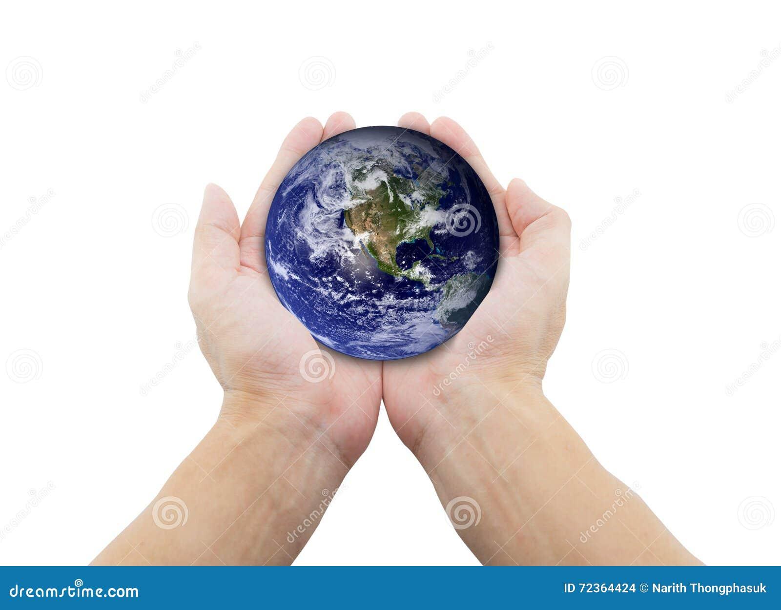 拿着在她的手上的人地球