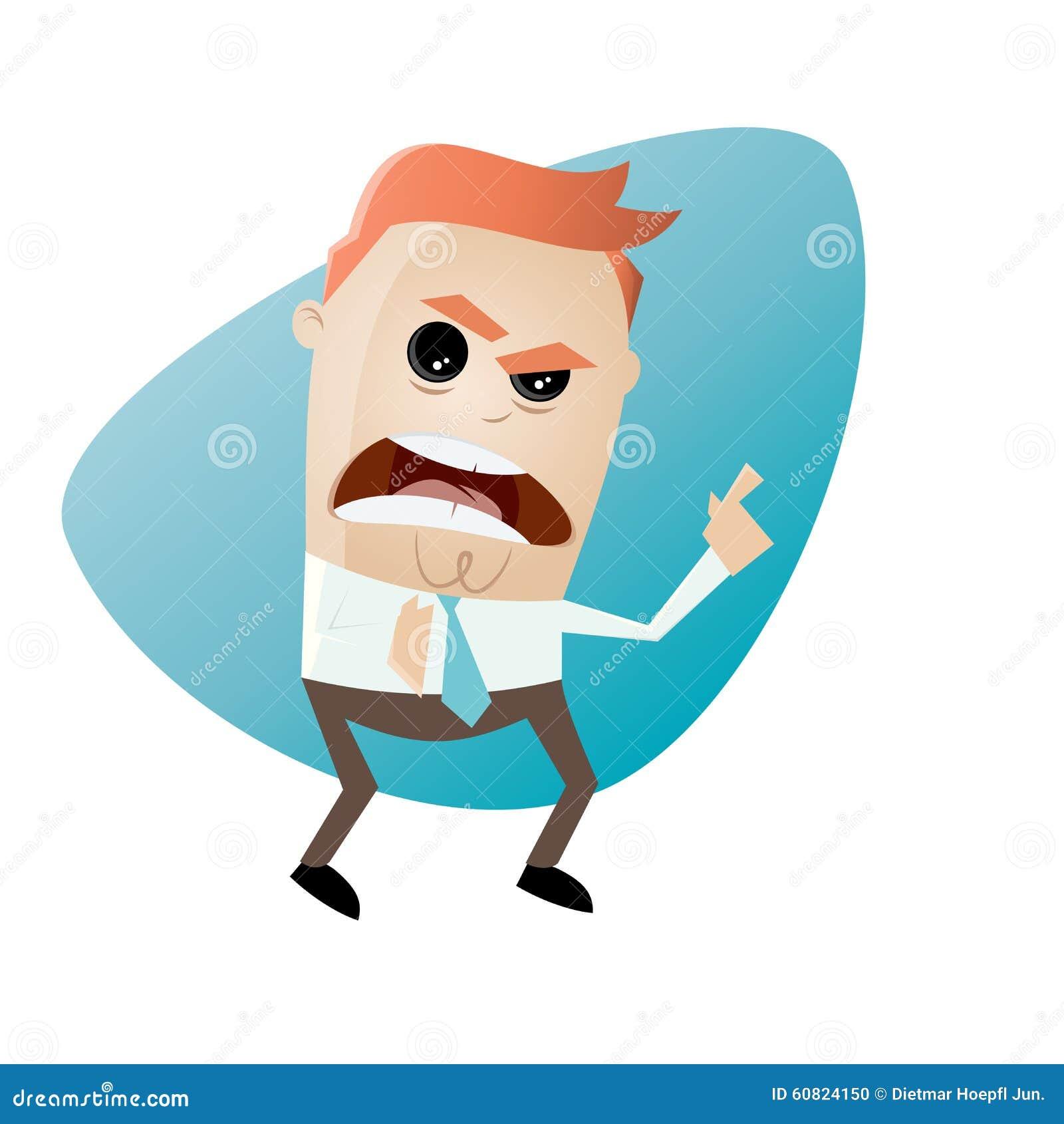 指向与手指的恼怒的商人图片
