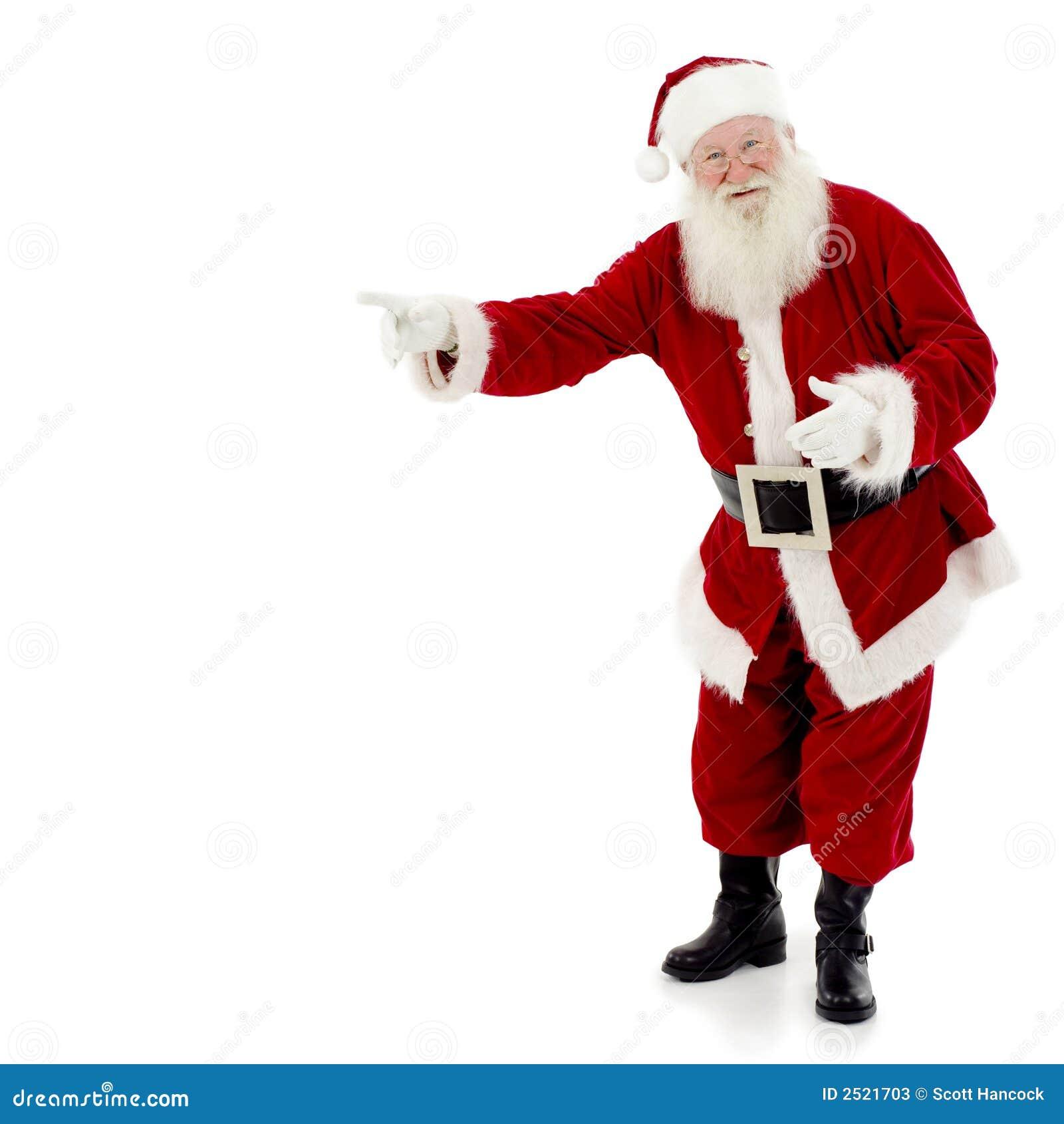 指向圣诞老人