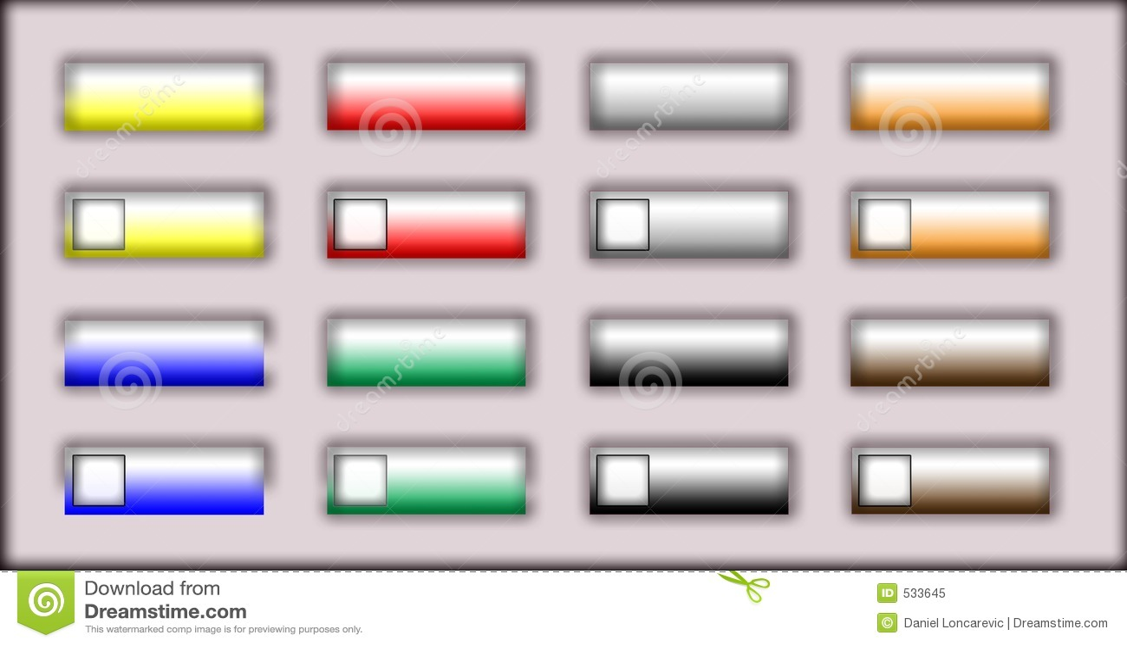 Download 按万维网 库存例证. 插画 包括有 设计, 互联网, 绿色, 按钮, 万维网, 黄色, 网站, 灰色, 例证 - 533645