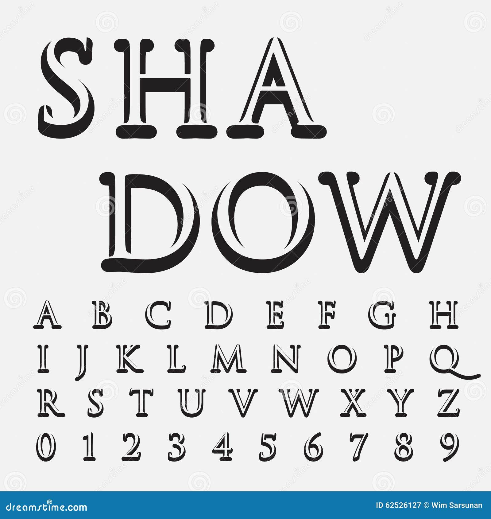 按字母顺序的字体和数字