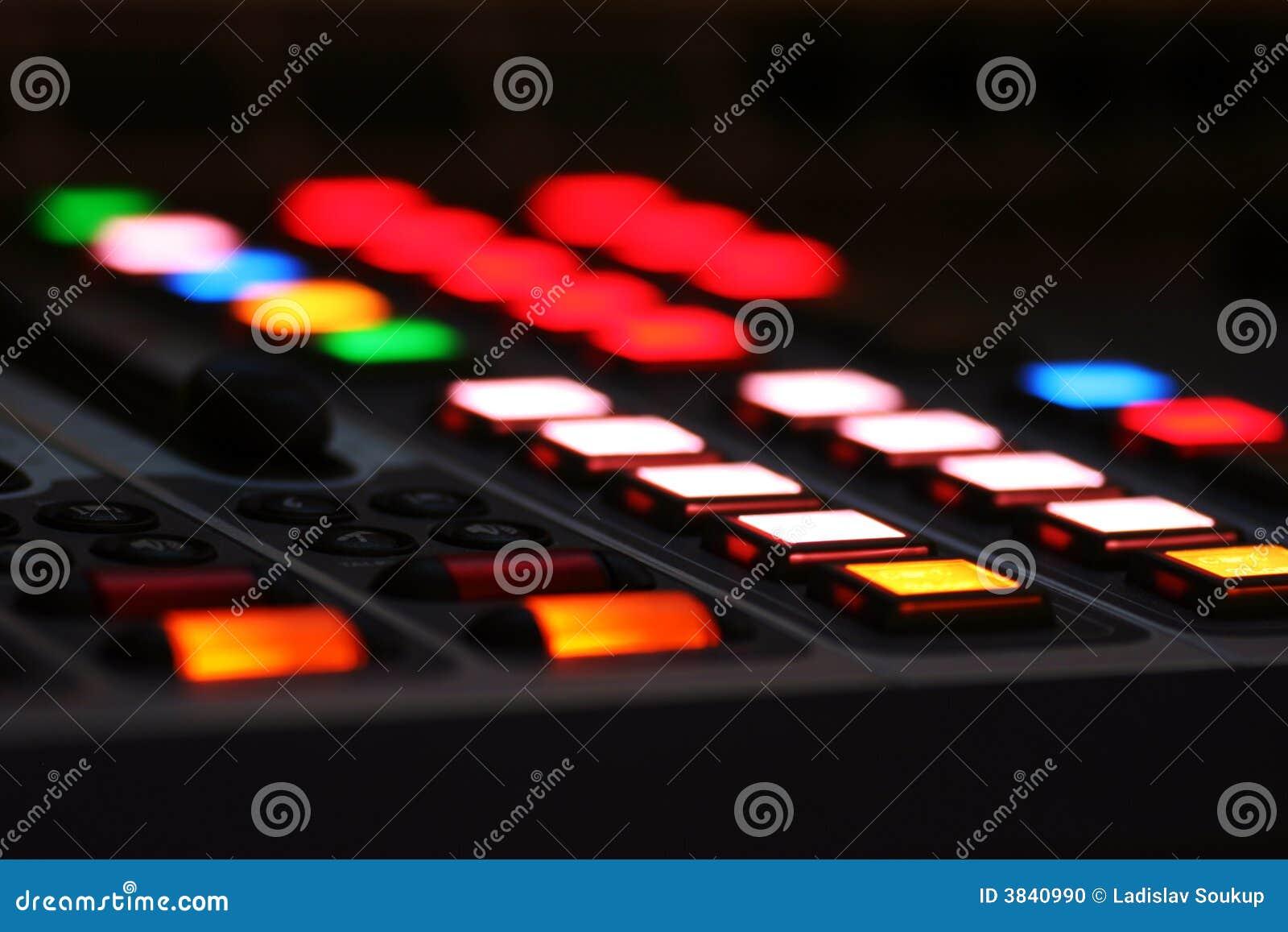 按钮控制台lcd混合