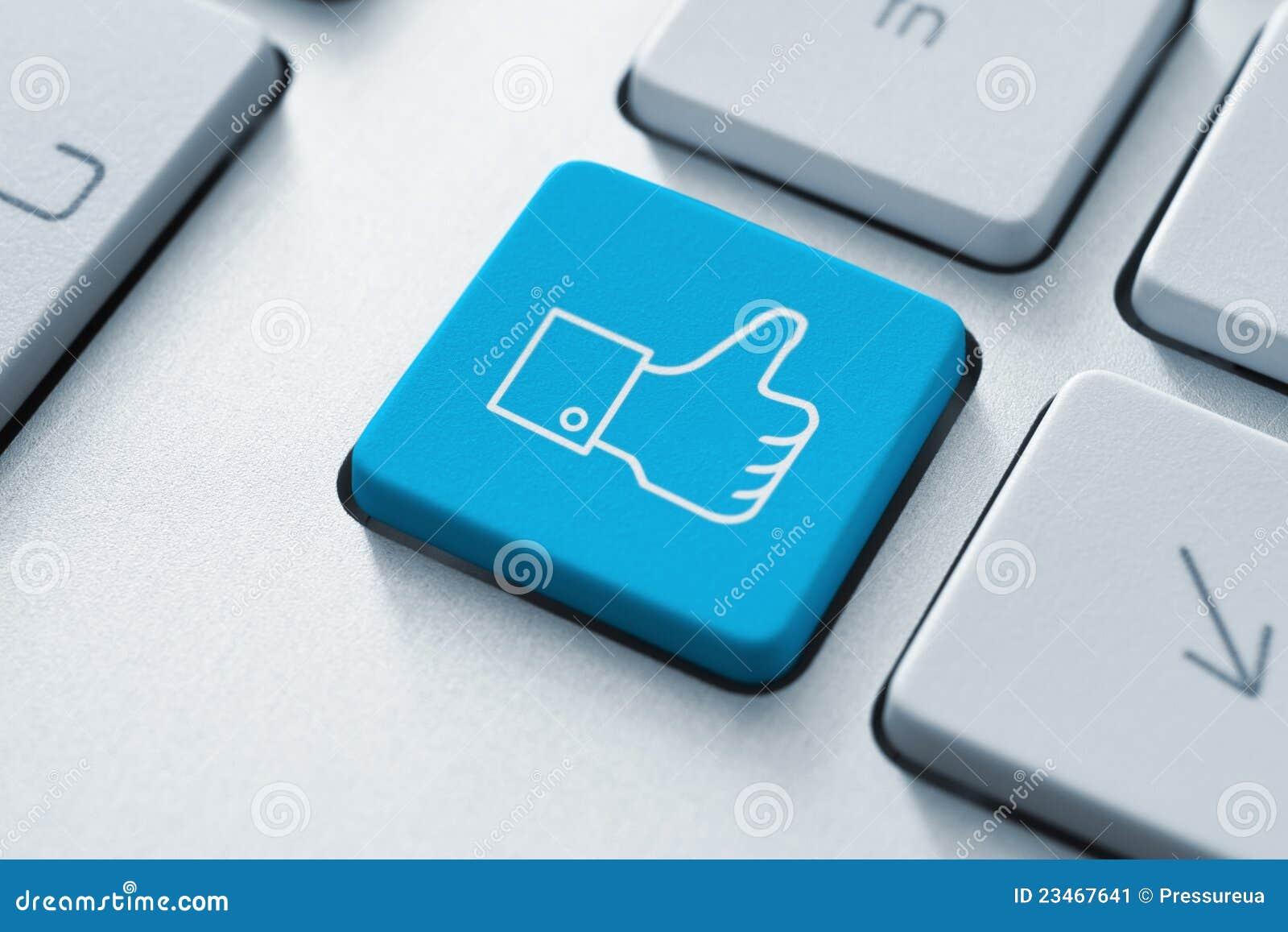 按钮facebook喜欢赞许
