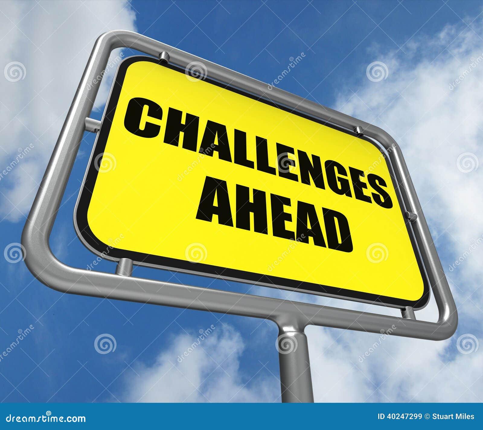 挑战克服a的前面标志展示