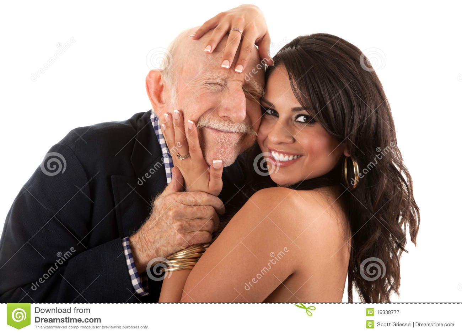 挖掘机的年长金人富有妻子