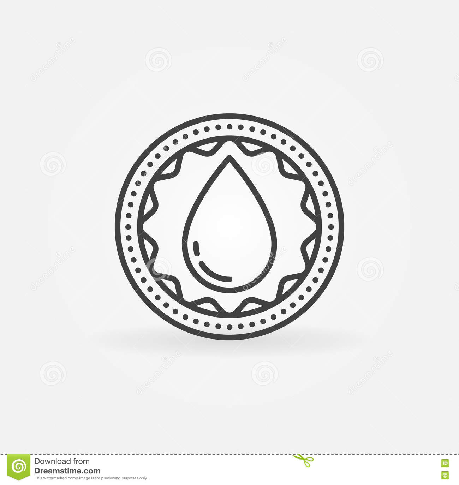 捐赠血液线性徽章