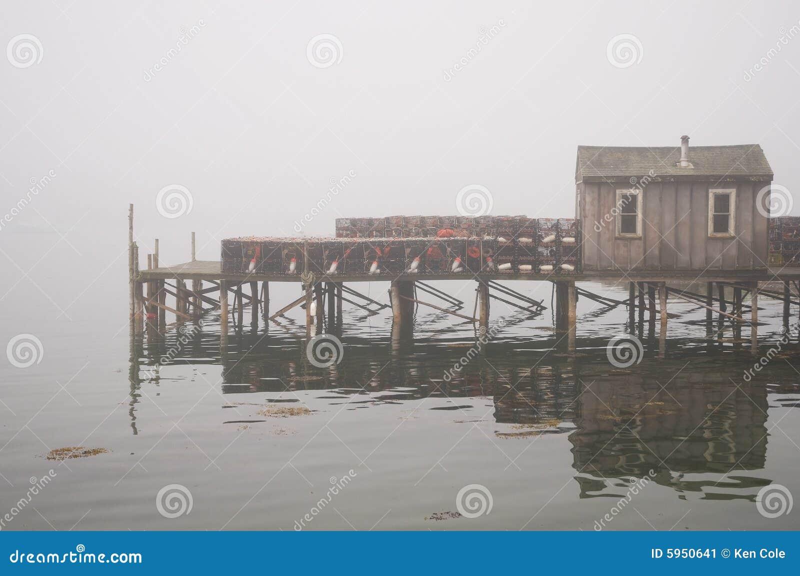 捕鱼雾古雅码头