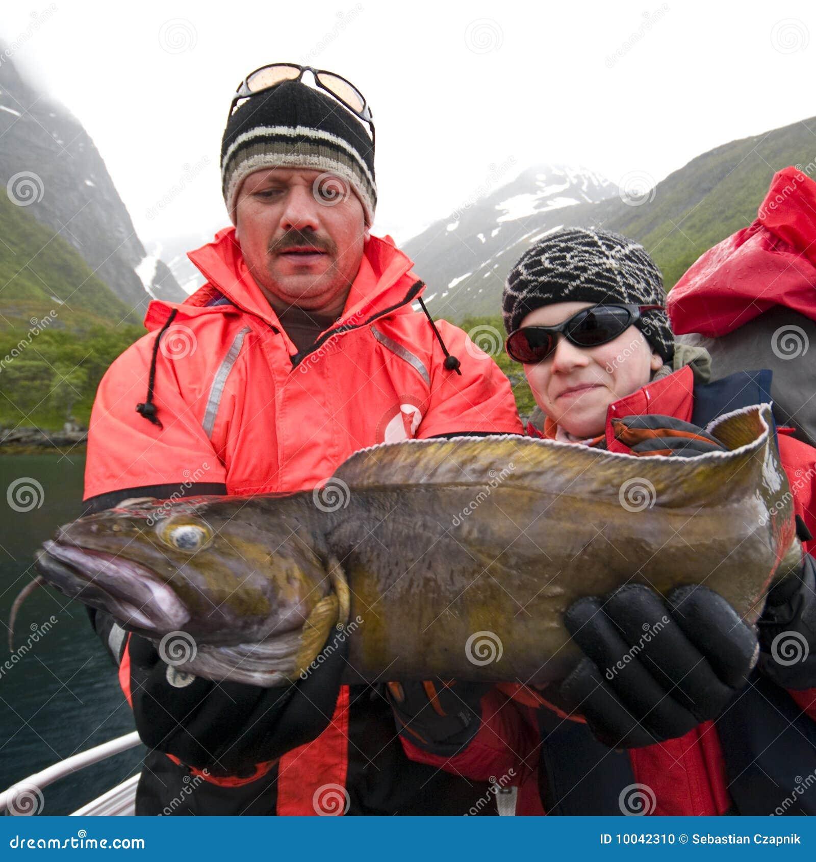 捕鱼鳕鱼战利品