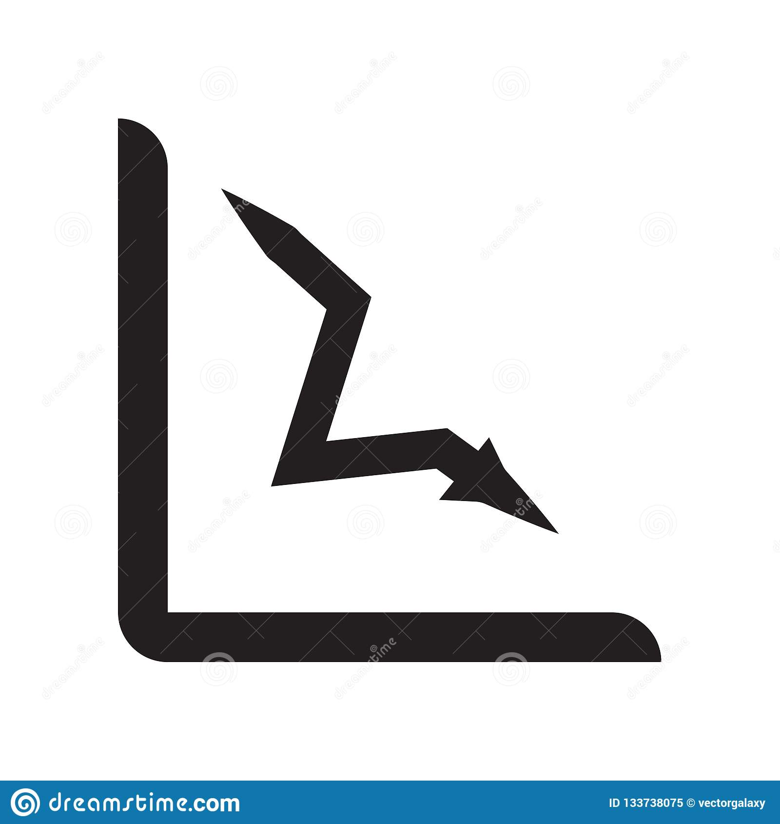损失图象在白色backgro和标志隔绝的传染媒介标志