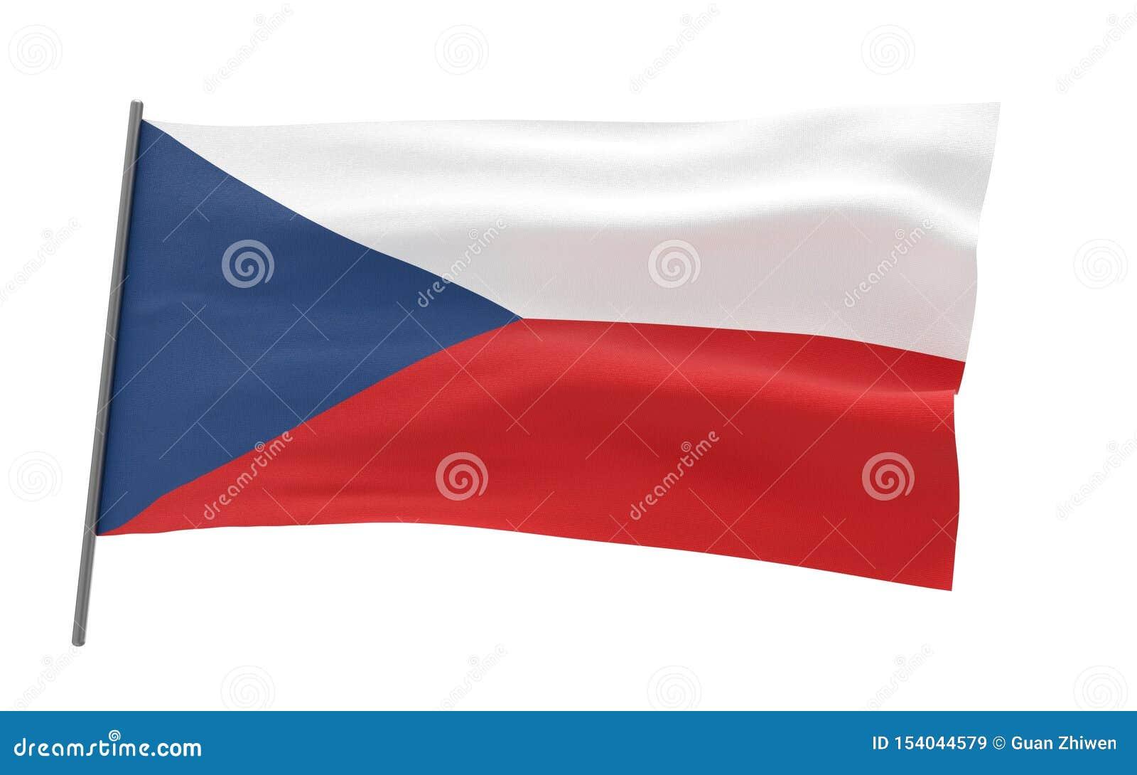 捷克的旗子