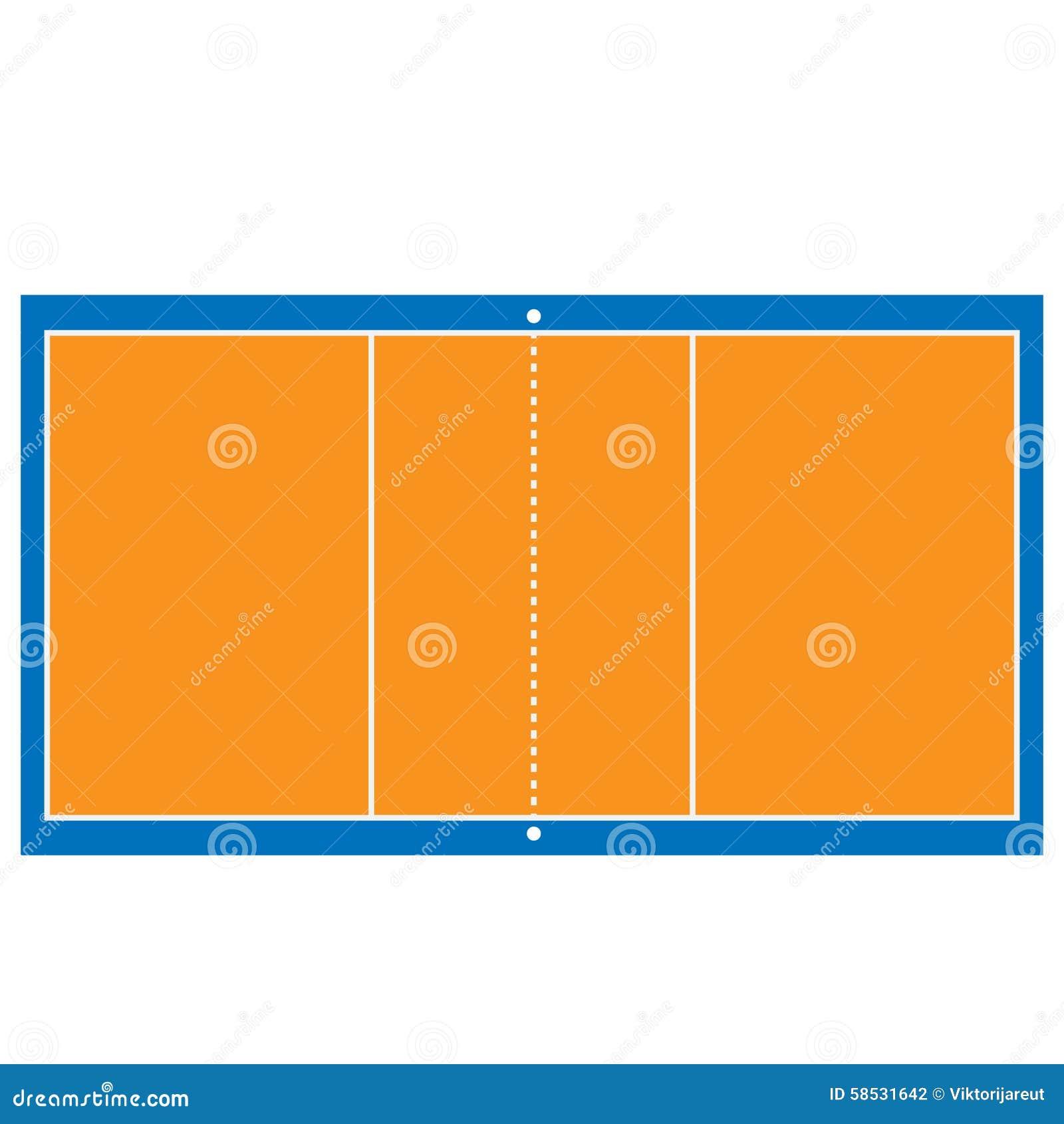 排球场平面�_排球场