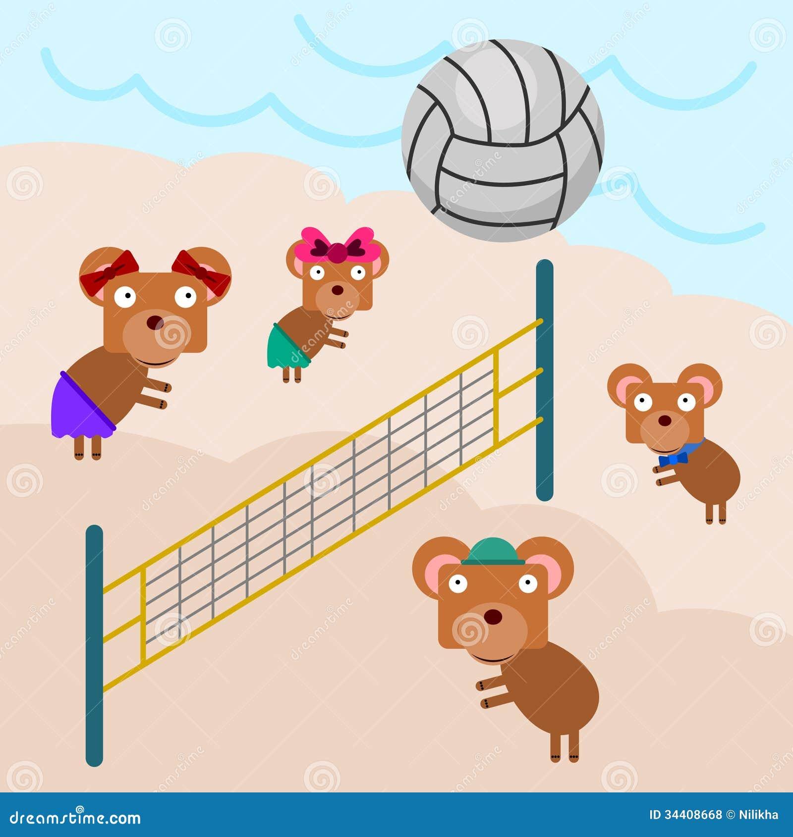 排球熊图片