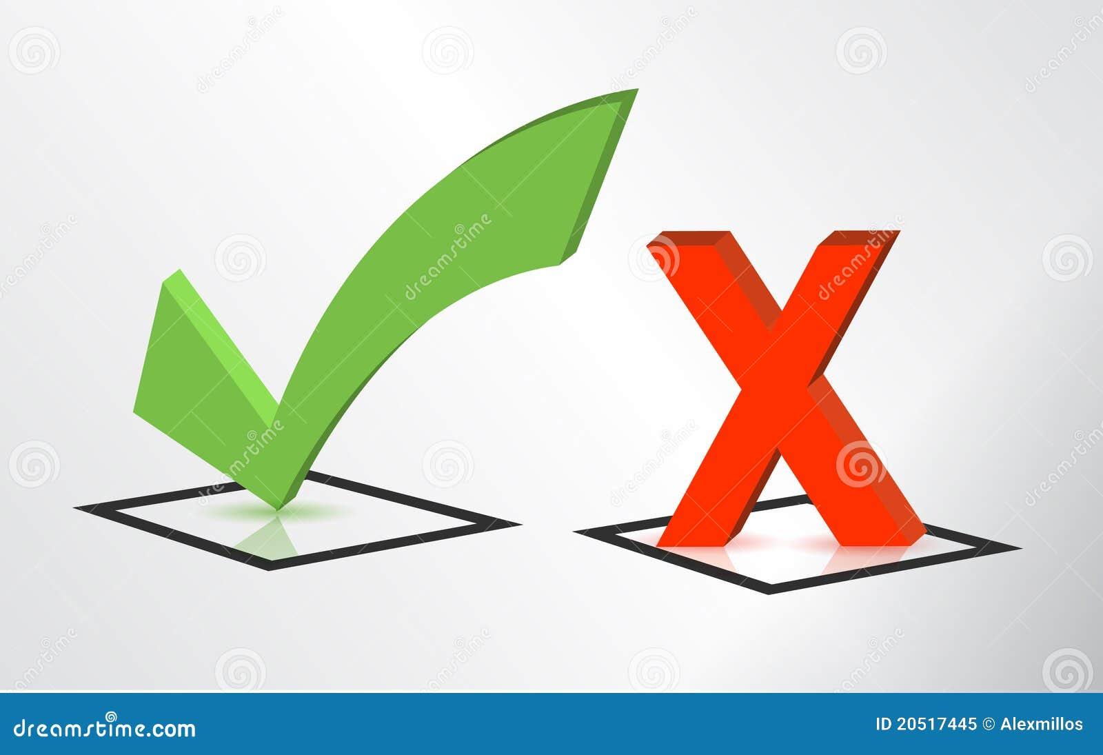 接受检查拒绝标记符号x